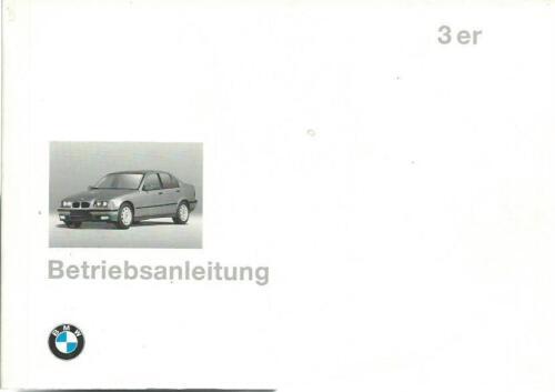 BMW 3er Cabrio Coupe e36 manuale di istruzioni 1995 316 318 320 323 328 325 BA