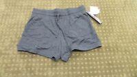 32 Degrees Cool Women's Super Soft Drawstring Fleece Shorts Large Gray Grey