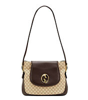 "NEW Authentic GUCCI ""1973"" Diamante Canvas Tote Shoulder Bag Handbag, 251809"