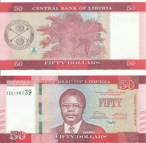 Liberia-50-Dollars-2016-UNC-Pick-New-serie-ZZ-replacement
