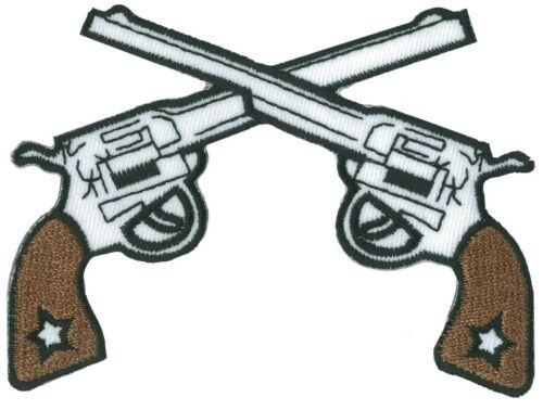 Ecusson patche PISTOLEROS thermocollant applique patch guns brodé