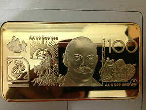 1-Kilo-kg-AUTRALIAN-POLYMER-BANKNOTE-24K-gold-gilded-collector-bar-INVESTMENT