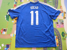 NWT Nike 2013 Confederations Cup Brazil #11 Oscar Blue Away Jersey (Men Size XL)