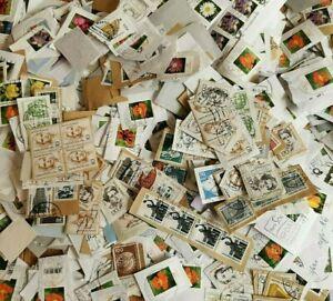 German Kiloware On-paper Stamp Mixture On Paper Stamps 1kg 500g decoupage