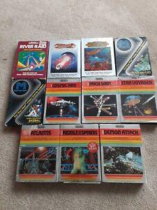 Atari 2600 11 Game Lot Mostly CIB Atlantis River Raid Demon Attack Journey Escap
