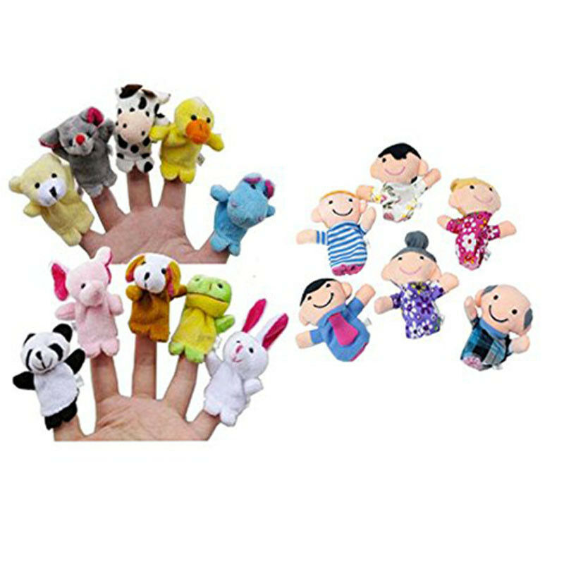 16PCS Finger Puppets Animals (10) People (6) Family Members Educational Toy LK 2