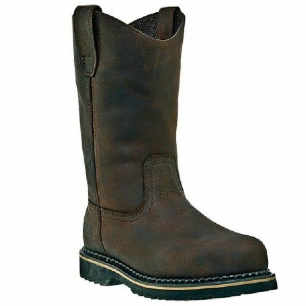 McRae Industrial Boot 10  Wellington Brown Genuine Leather MR85144 All Sizes