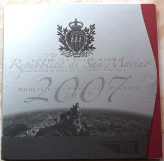 San Marino - Kursmünzensatz - KMS - 2007 - mit 5 Euro Silbergedenkmünze