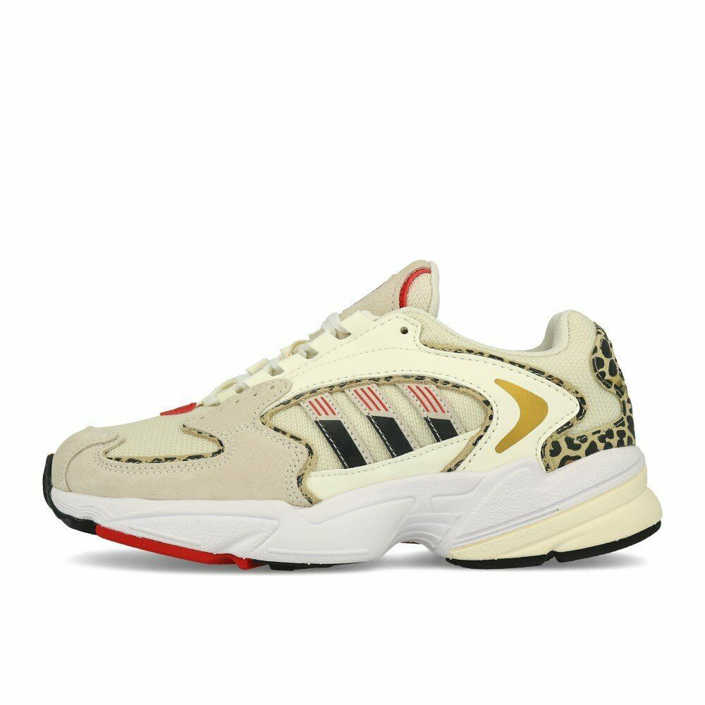 Adidas Falcon 2000 W Weiß Weiß Scarlet Schuhe Turnschuhe Weiß Beige Rot
