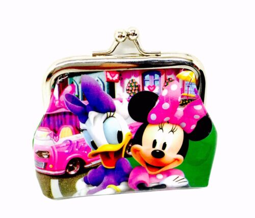 Disney Pink Minnie Mouse And Daisy Duck Mini Bow Clip On Girls Purse Wallet Coin