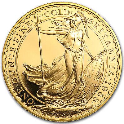 Great Britain 1 oz Gold Britannia BU/Proof (Random Year) - SKU #28121