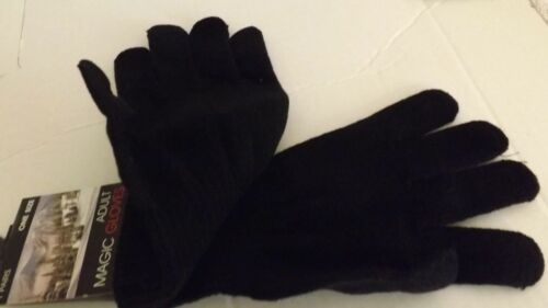 UNISEX MAGIC WARM GLOVES Thermal Wool Lined Gloves BLACK ONE SIZE