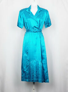 vintage 80/'s aqua printed dress