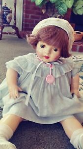 Large-chunky-composition-baby-doll-vintage-old-1930-s40-s-24-Inch