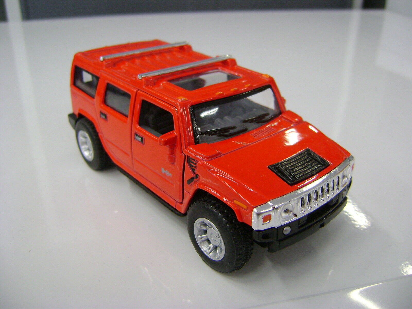 2008 Hummer H2 SUV Rot Kinsmart Spielzeug Modell 1 40 40 40 Maßstab 5262c8