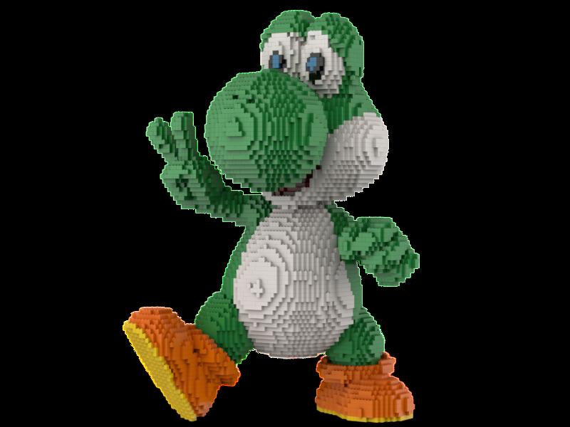 Lego Yoshi Statue Building instruction-Super Mario   vente en ligne