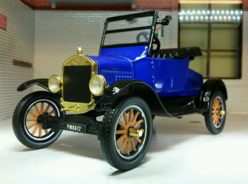 124 Scale 1925 Ford Model T Vintage Car Open Runabout Railway Diecast Motormax