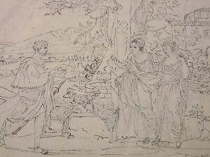 Dessin Original Berger et femmes drapées