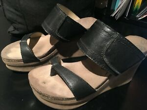 b7074184358d Image is loading OTBT-WOMEN-039-S-BROOKFIELD-WEDGE-SANDAL-LEATHER-