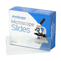 Amscope 50 Blank Microscope Slide Ground Edges Pre-cleaned Clear Glass Slides on sale