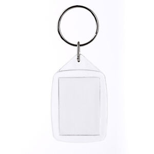 Details about 50x Clear Acrylic Plastic Blank Keyring DIY Photo Insert Key  Rings AU Stock