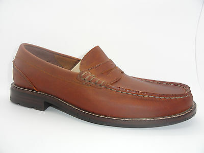 Men's Sperry Top-Sider Essex Penny Brown Leather Loafers Boat Shoe
