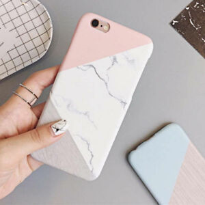 best service 8383f 36500 Details about Slim Granite Marble Contrast Color Hard Case Cover for iPhone  X 5 SE 6s 7 8 Plus
