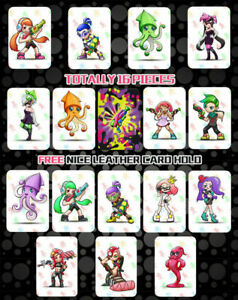 16PCS PVC NFC Tag Game Cards Splatoon 2 Octoling Octopus Girl Boy for Switch