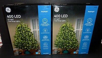NEW 400 GE StayBright EZ Light Warm White LED Christmas Tree Wrap Lights