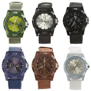 HK-Men-039-s-Military-Army-Style-Nylon-Band-Sports-Analog-Quartz-Wrist-Watch-Lot-Ta