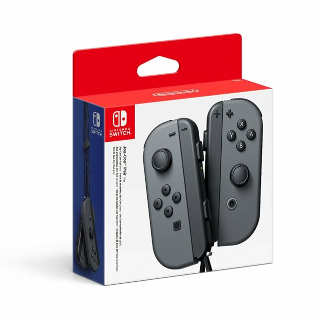 Official Nintendo Switch Joy-Con Controller Pair - Grey (Nintendo Switch)