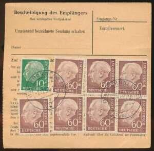 Bund-Nr-190-PAAR-in-MiF-auf-Paketkarte-NURNBERG-2-12-57-69289