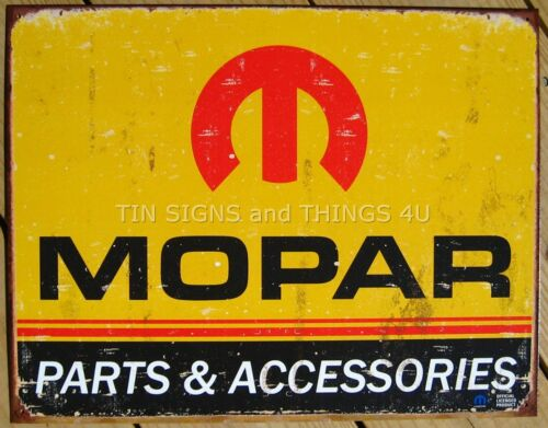 Mopar Parts and Accessories TIN SIGN vintage garage metal poster wall decor 1315