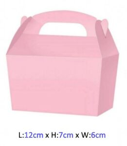 10 Black Treat Boxes Small Cupcake Food Loot Cardboard Gift