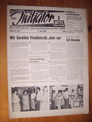 Dresden Zeitung 1988 Ddr Veb Kombinat Großhandel Waren Täglicher Bedarf Wtb Sed