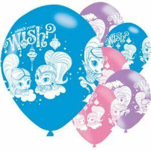 """10 X Shimmer And Shine 12"""" Latex Fête Ballons Soirée Parfaite Fun Uk Vendeur-afficher Le Titre D'origine"""