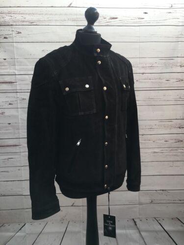 Carla 5054615133788 Ladies Jacket Bomber Ferreri Size Suede M Black Biker TTqSPrw