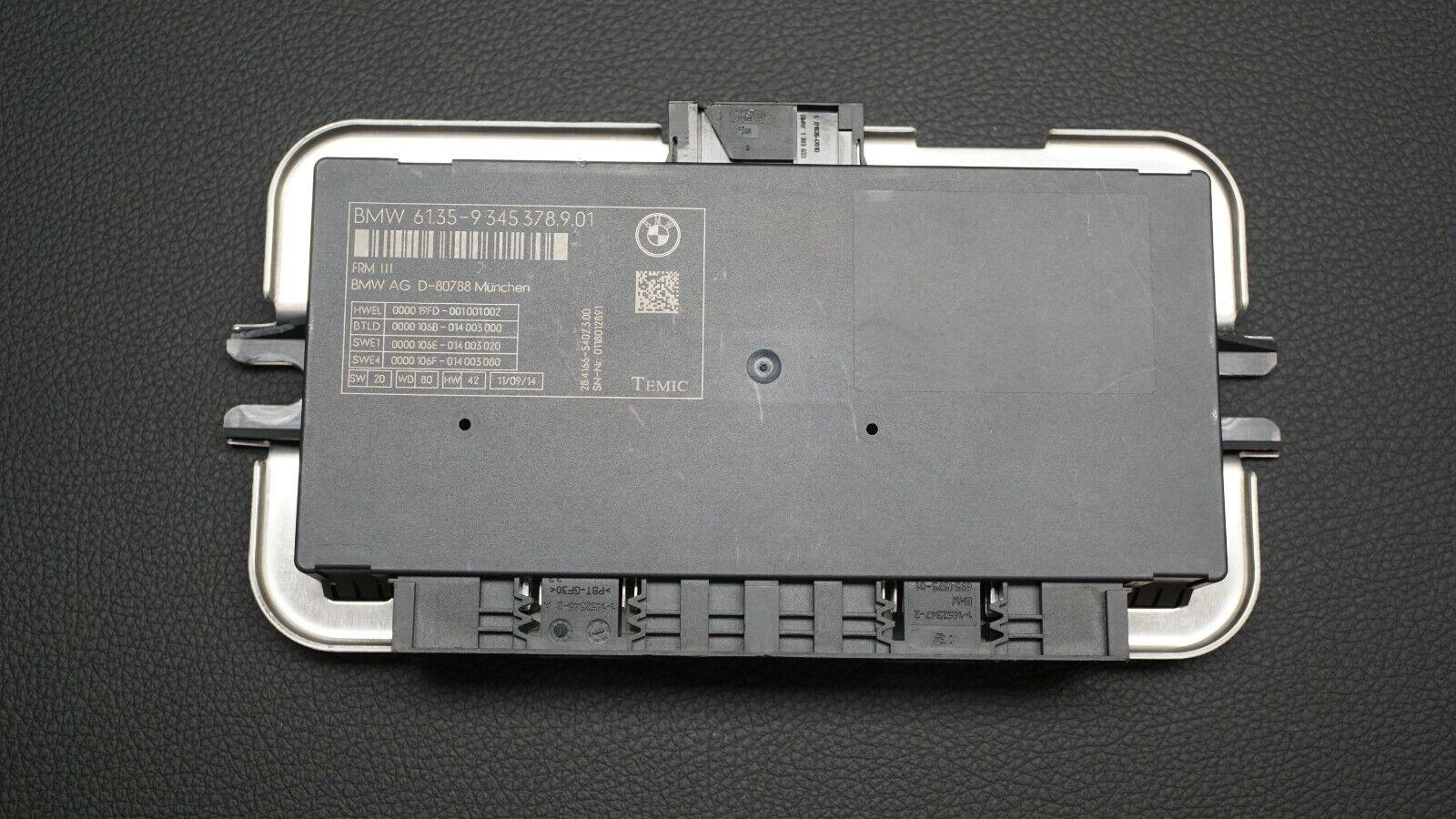 BMW F01 F02 F06 F07 F10 F11 F12 F13 FRM3 Footwell Module 9273629 Temic