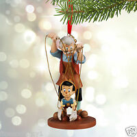 Disney Ornament Pinocchio & Geppetto Sketchbook you Gotta Pull Strings 2015
