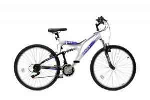 Basis-2-Full-Dual-Suspension-Ladies-Mountain-Bike-26-034-Wheel-21Sp-White-Purple