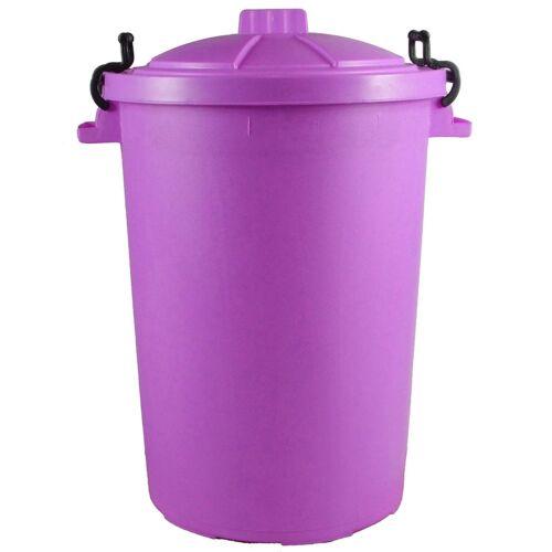 85L Litre OUT DOOR//ANIMAL// Garden Rubbish Waste STORGE Dustbin PURPLE