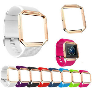 Replacement Silicone Wristband Strap soft Belt for Fitbit Blaze Double color