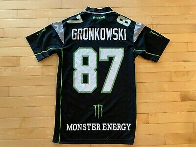 Riddell Monster Energy Rob Gronkowski Jersey Size S Bucs New Patriots GRONK