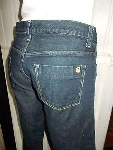 Pantalon-jeans-bleu-brut-taille-basse-CARHARTT-w-039-urban-pant-w27-l34-36-38-17VH28