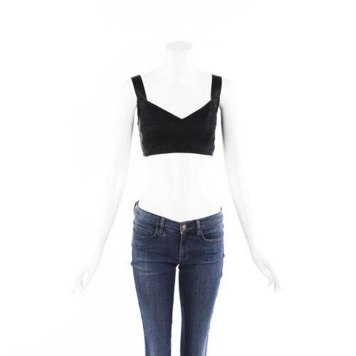 Dolce & Gabbana Lace Velvet Crop Top SZ 44
