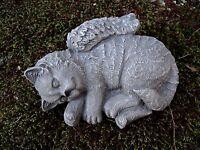 Cat Angel Statue, Concrete Pet Memorial, Cat Statue, Cement Cat With Wings.