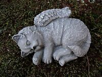Cat Angel Statue, Concrete Pet Memorial, Cat Statue, Cement Cat With Wings.