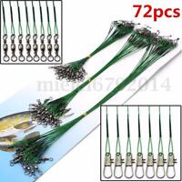 15/23/30cm Lure Coated Trace Fish Wire Leader Spinner Pike Sea Fishing 3Sizes