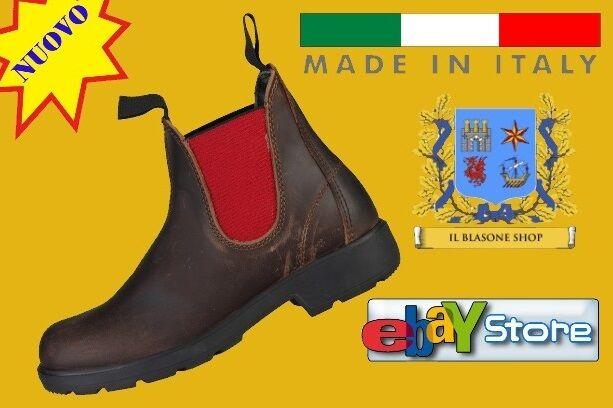 Scarpa Damenschuhe Stivaletto Chelsea boot boot boot Pelle  MADE IN ITALIA Fashion Ruby ROT 7cf094