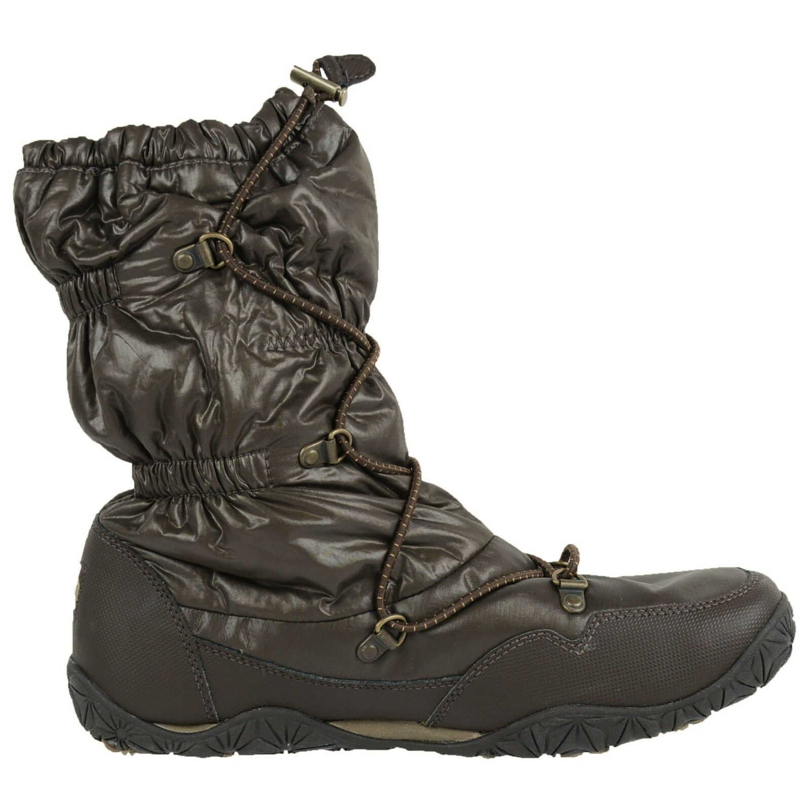 THE NORTH FACE FACE FACE WMNS ICE QUEEN WINTER BOOTS SHINY DEMITASSE BROWN APPXFG6 SZ 9.5 0197d4